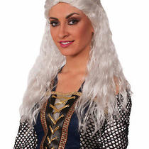 Womens Medieval Game of Thrones Fantasy White Long Wig Photo