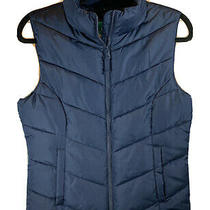 Womens Medium Aeropostale Remixed Blue Puffer Vest Brand New Photo