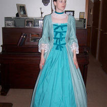 Womens Medium Aqua/teal Colonial Dress Photo