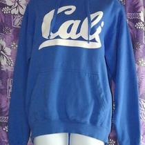 Womens Medium Cali Blue Hoodie Sweatshirt California Cruise Surfer Beach Resort Photo