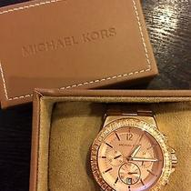 Womens Michael Kors Rose Gold Metal Watch Photo