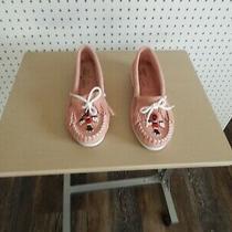 Womens Minnetonka Moccasins - Pink - Size 7 Photo