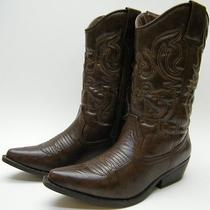 Womens Mossimo Supply Co Brown Cowboy Western Boots Sz 6 M Photo