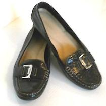 Womens Naturalizer Loafers Shoes Flats Crocodile Black Patent  Leather  9 1/2 Photo
