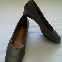 Womens Naturalizer Pewter Low Heel Pumps Sz 8m Leather Photo
