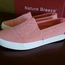 Womens Nature Breeze Canvas Sneakers Slip on Blush Size 7 New Photo