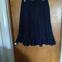 Womens Navy Blue Fluted Skirt by Grace Elements Photo