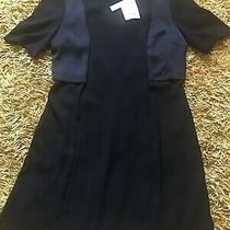 Womens Navy Topshop Dress Size 14 Bnwt Photo