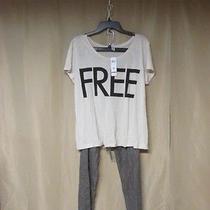 Womens New Bcbg Sleepwear 2 Pc Pj's Top & Bottom Ceramic Size L Retail 40 Nwt Photo