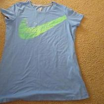Womens Nike  Blue Dri Fit Slim Fit Tee Sz L Photo