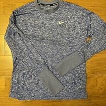 Womens Nike Dri-Fit Therma Sphere Element Running Top Small Blue Photo