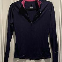 Womens Nike Element Dri Fit 1/4 Zip Athletic Warm Up Shirt Purple Small Euc Photo