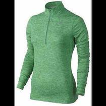 Womens Nike Element Half 1/2 Zip Running Shirt Spring Leaf Green Nwt 65 Small ' Photo