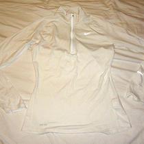 Womens Nike Element Running 1/3 Zip Pullover White Size M Medium 321646 100 Photo