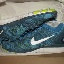 Womens Nike Free Tr Fit 2 Run Running Shoes New Sz 8 Blue Glow Print Photo