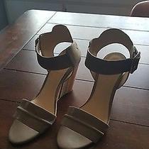 Womens Nine West Nude Blush Beige Wedge Sandals- Size 8 Photo
