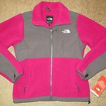 Womens North Face Denali Berry Lacquer Pink Graphite Fleece Jacket S Worn Once Photo