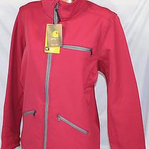 Womens Nwt Carhartt Crowley Softshell Jacket 101486 Pink Sz M Photo