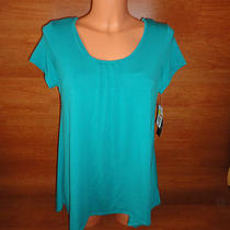 Womens Nwt Karen Neuburger S Pajama Bright Tea Aqua Blue Pants Tank Top Shirt  Photo