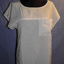 Womens Off White h&m Sheer See Through Blouse Size 2 or Small Photo