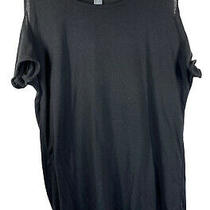 Womens Old Navy Blouse Top Shirt Black Large Cold Shoulder Photo