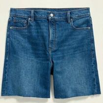 Womens Old Navy Denim Bermuda Shorts 7
