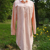 Womens Old Navy Dress Size  Large  Coral  Shirt Dress Knee Modest Tunic Blush Photo