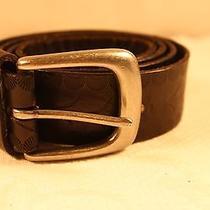 Womens Old Navy Embossed Black Leather Belt  Sz M Photo