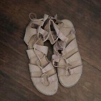 Womens Old Navy Gladiator Lace Up Sandals Size 7 Light Blush Color Photo