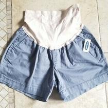 Womens Old Navy Maternity Gray Chino Shorts Size 6 New Photo