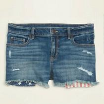 Womens Old Navy Mid Rise Americana Pocket Jean Cut Off Shorts New Photo