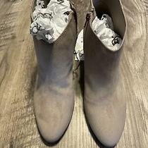 Womens  Old Navy Suede High Heel Booties/ankle Boots Nude/beige Size Us 8 Photo