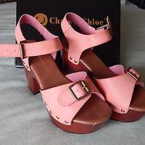 Womens Open Toed Platform Heeled Sandal Peach/blush Size 6 Photo