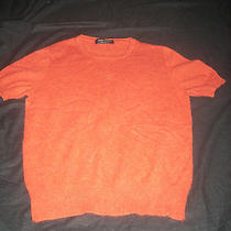 Womens Orange 100% 2 Ply Cashmere Sweater Valerie Stevens Medium Free Shipping Photo