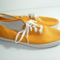 Womens Orange Neon Canvas Keds Sneakers Fashion Comfort Heels Shoes Size 10 M Photo