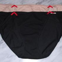 Womens Panties Size S Lot of 2 Josie Natori Nude Beige Black Cotton High Cut New Photo