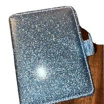 Womens Passport Case Holder Wallet Turquoise Sparkle Glitter Photo