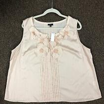 Womens Petites Talbot 20wp Blush Pink Sleevless Silk Blouse Nwt Photo