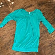 Womens Pink Blush Turquoise Maternity Top Medium Guc Photo