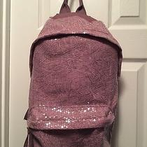 Womens Pink Sequin Backpack Photo