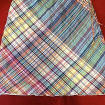 Womens Plaid Side Sash Tie Skirt Sz 8 Photo
