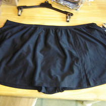 Womens Plus Aqua Couture Black Swimskirt Swim Skirt Black Bathing Skirt 20w Photo