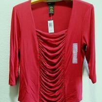Womens Plus Size 1x/2x Xxl Clothes Red Sensuous Shirt/top Nwt 58 Grace Elements Photo