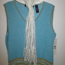 Womens Plus Size Clothing Lot of 2 Liz Claiborne Crazy Horse Xl Sweater Scarfnew Photo