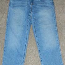Womens Prefaded Denim Dkny Soho Jean Capri Pants Size 10 Excellent Photo