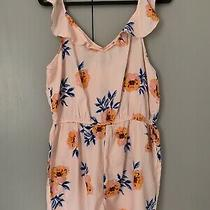 Womens Primark Pink Blush Flower Summer Pretty Shorts Playsuit Size 14 New Photo