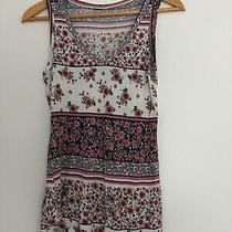 Womens Printed Vest Top Size 10 Excellent Condition Photo