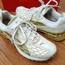 Womens Puma Cell Flexion White Gold Rose Wine Running Shoes Sneaker Sz 7.5 Rare  Photo