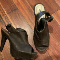 Womens Pump Open Toe Heel Black Us Size 8 Photo