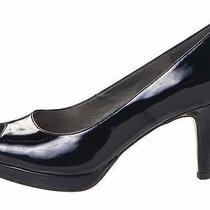 Womens Pump Shoes Size 6 Bandolino Open Toe Wedge Heel Stylish Black New in Box Photo